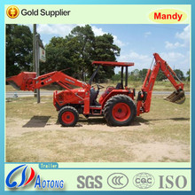 hot 4wd mini agricultural/garden farm tractor with front loader and backhoe