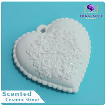 heart shape ceramic stone fragrance aroma ceramic