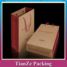 Luxury paper shopping bag, gift paper bag, kraft paper bag