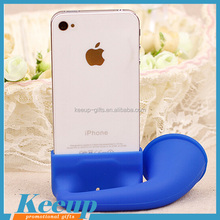 Newest promotional gifts Silicone Horn Amplifier, mobile phone Speaker, Stand for iPhone 4/5/6