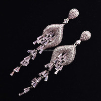 earrings high-grade micro inlay zircon eardrop of Europe and the United States exaggerate tas