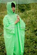 Eco-friendly Outdoor PVC Poncho Womens Patterned Rain Coat Breathable Waterproof Poncho Raincoat