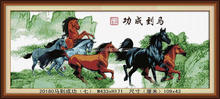 CROSS STITCH CUSHION KITSCHINA FAMOUS HORSE DIAMOND PAINTING OIL PICTURES DIY CRYSTAL DIAMOND PAINTING ON CANVAS