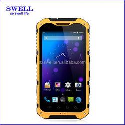 Original Dustproof phone IP67 Dual core phone 1.2Ghz CPU Multi Language Dual SIM Android4.4.2 for security