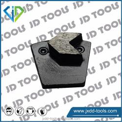 Redi lock diamond tool grinding plate with arrow tooth