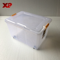 Heavy-duty plastic storage box with wheels,plastic fruit storage box