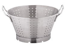 Quality big size hotel and restaurant big colander with handle