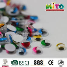 hot new products for 2015 children diy 5MM colour with eyelash doll eyes