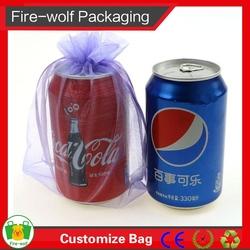 Golf Cosmetics Wholesale Cheap Organza Drawstring Bag