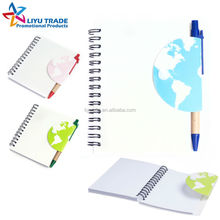 promotion gift eco pp spiral notebook with pen