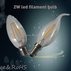 Galss Cover Led Lens 360 Degrees E27 A60 3.5w Filament Led Lamp Ce Rohs