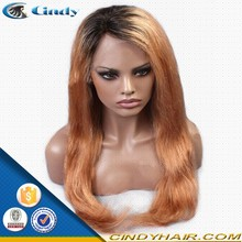 2015 new products 100 virgin human ombre cheap silk top full lace wigs china wig supplier