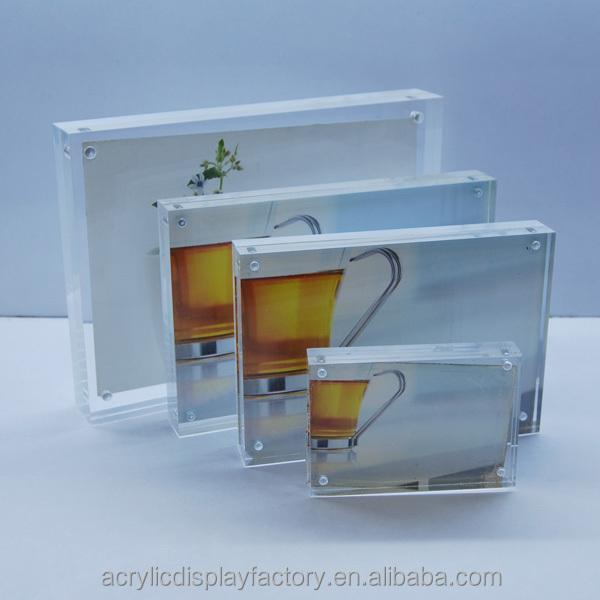 Montado en la pared marcos de fotos de acrílico / acrílico marcos de ...