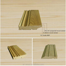 MDF baseboard molding with different size