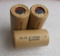 ni cd rechargeable battery SC1800 1.2v