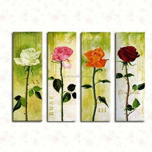 Best price and service Dafen wholesale flower rose handmade oil painting on canvas