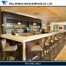 classic design mini hotel bar counter wooden bar table stone countertop/cafe bar counter