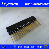 2.54mm pitch 2X20p square longer pin female header connector alibaba in China