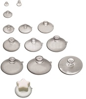 High quality side-pilot-hole glass table suction cups with superior transparency