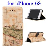 free sample phone case PU Leather leather wallet flip case for iPhone 6S with low price