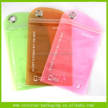Colorful Screen Printing Zipper Top New Design Mobile Phone Pouch