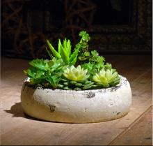 Hot item garden ceramic shallow flower pots