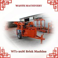 WANTE MACHINERY WT1-20/WT1-20M high profit low investment clay brick making machine