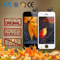 100% Gurantee Retina for iPhone 5 5G complete LCD Touch Screen Digitizer Assembly with small parts
