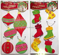 Wholesale, retail,Attractive Christmas decoration eva hanging ,glitter eva sticker,foiled eva sticker, foil hanging decoration