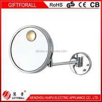 Gold Supplier China Round Led Wall Mounted Makeup Mirror