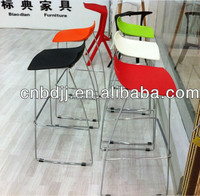 Novelty home cafe hotel salon restaurant living room furniture solid and cosy chromed modern barstool