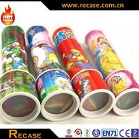 Funny kids gift promotional plastic kaleidoscope toy OEM