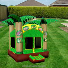 commercial inflatable bouncer with double slide