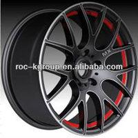Black +Red lip replica Car alloy rims 5*120 17*8J