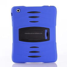 high quality armor hybrid hard silicone stand shockproof case for tablet ipad 6