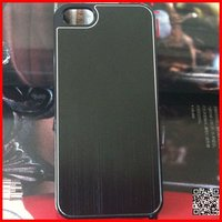 Black PC+aluminium sheet cell phone case for iPhone 5