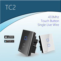 BroadLink RF Smart Home Popular Touch Screen Wall Light Switch Wifi Control From Smart Phone