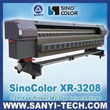 3.2m SinoColor XR-3208 Label Printer, with Xaar Proton 382 Printheads