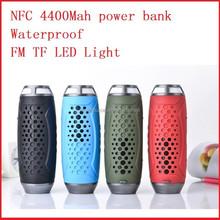 4400Mah power bank waterproof portable wireless bluetooth speaker