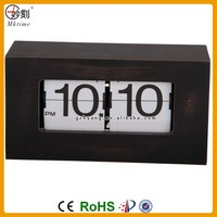 Factory Direct Sale New Flip Clock Home Decorative Desk & Table Wood Clock