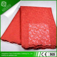 AAA grade high quality big embroidery lace fabric 2015 fashion french lace
