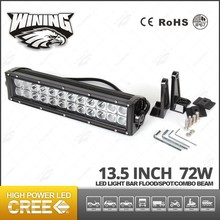 LED Driving Light 13.5 Inch 72W Dual Row Curved Car 4x4 LED Light Bar
