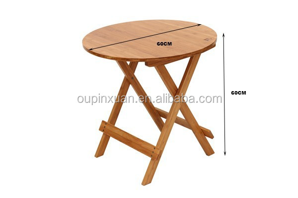 2015 new design 100 mboo flexiable folding table natrual for Latest dining table designs 2015