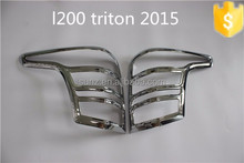 New arrival ABS plastic chrome tail light cover for Mitsubishi L200 Triton 2015 car lighting accessories