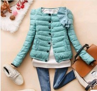 D90765L WOMEN'S ROUND COLLAR SHORT COAT