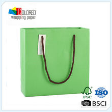 Green Color PMS Printing Custom Shopping Bags