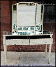 Antique Silver Dressing Table,Bedroom Mirror Furniture ,Dressing Table with mirror