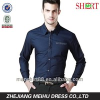 Decent luxury invisible pocket slim fit dress shirt for men