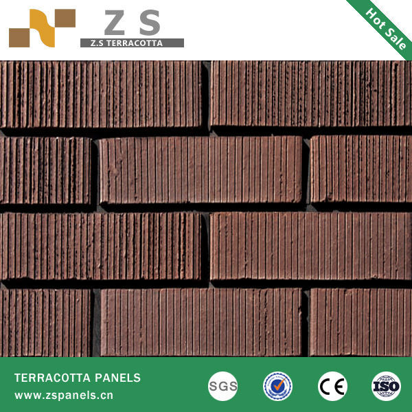 Terracotta Tile Panel Clay Curtain Wall Bricks Brick Exterior ...