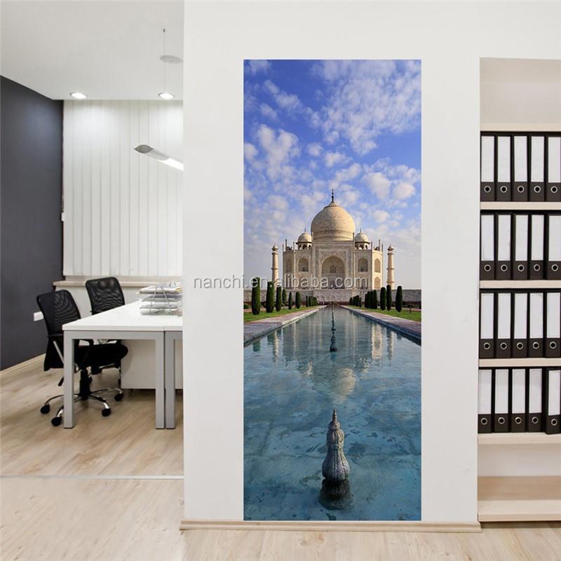 India Taj Mahal deur stickers deur renovatie woonkamer deur ...